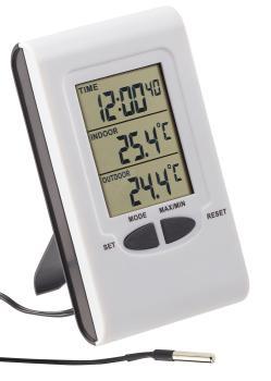 Termometro Radio Piscina per umidità COLTELLO indicatore della temperatura esterno interno Set