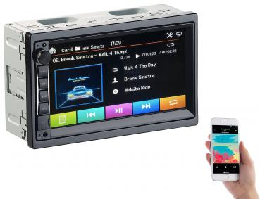Autoradio 2 DIN MP3 con display touch Bluetooth, vivavoce, 4x 45 W