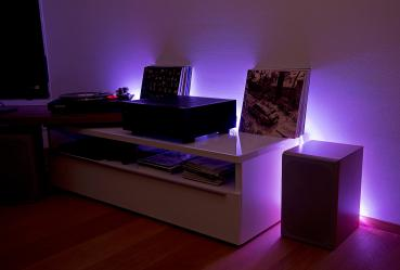 LED Ventilatore a soffitto sonno camera degli ospiti VENTOLA Telecomando RGB Lampada dimmerabile