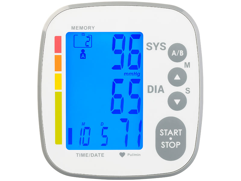Misuratore di pressione sanguigna braccio superiore..