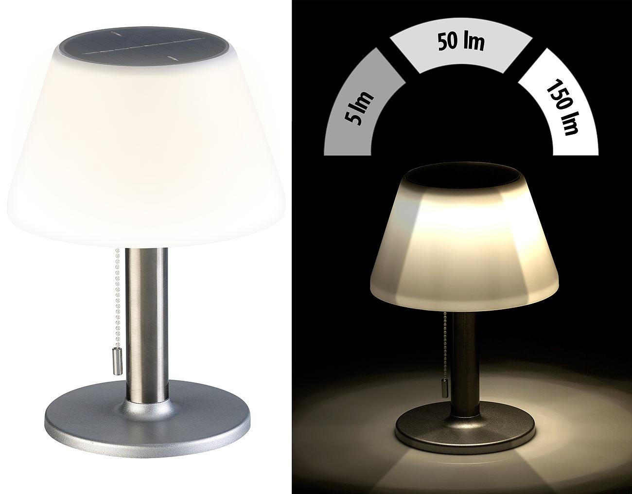 Lampada Da Tavolo A Led Solare Dimmerabile Con 150 Lumen 5 Watt O 20 Cm Ip44
